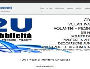 """Sito Web Vetrina """"2U Pubblicità di Udo Usvardi"""""""