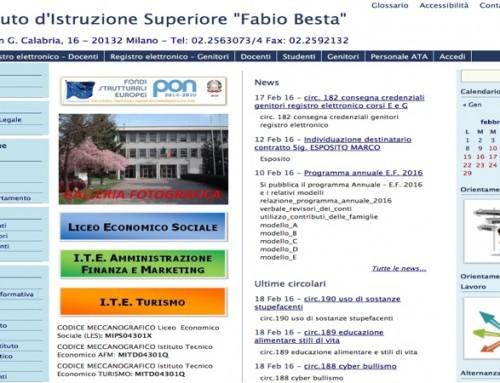 """Sito Web """"Istituto d'Istruzione Superiore Fabio Besta"""""""