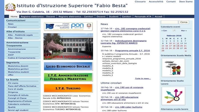 Fabio Besta Home page sito web